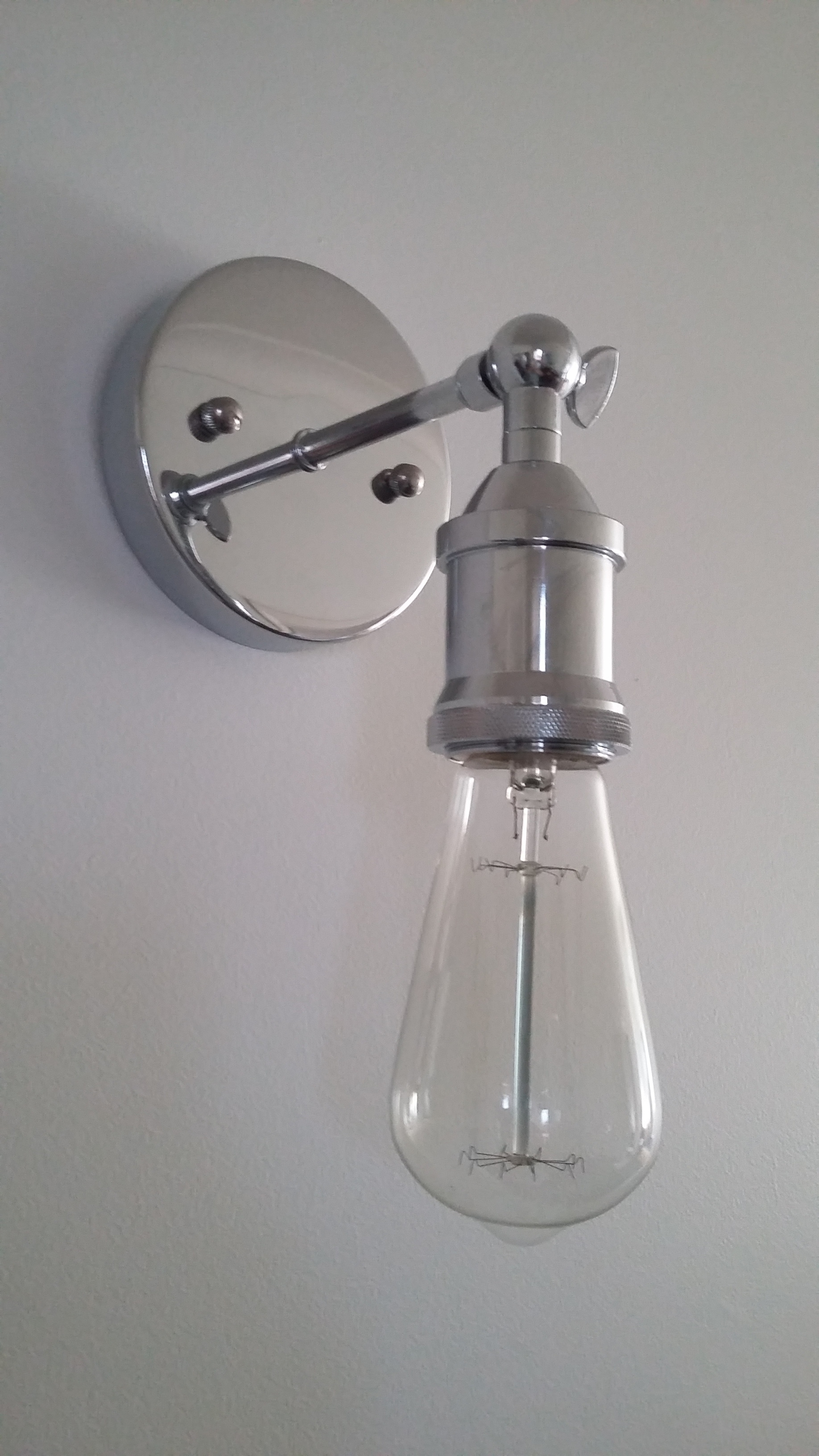 Chrome Edison Wall Lamp - IN STOCK!