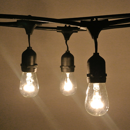 vintage festoon string lights. Black Bedroom Furniture Sets. Home Design Ideas