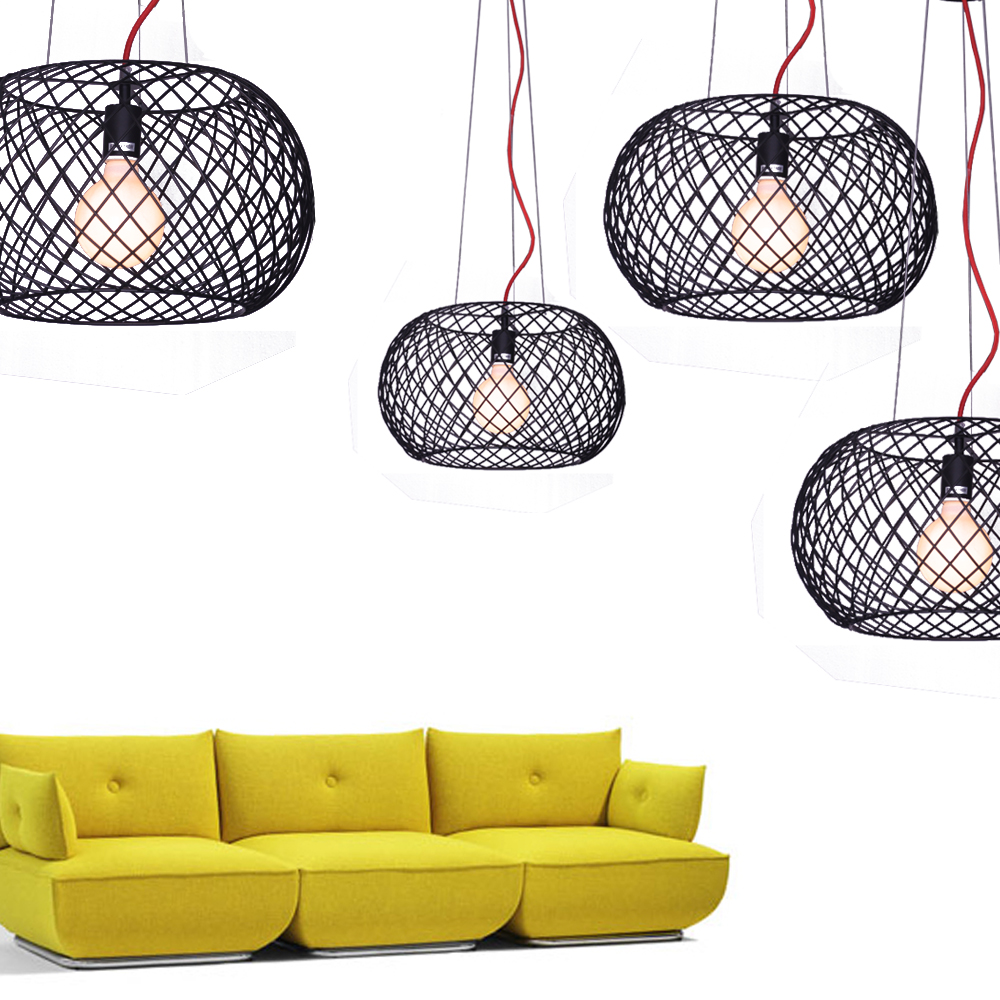 Wire Mesh Pendant - Black