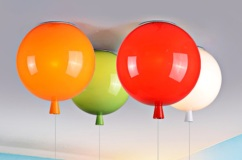 Balloon Ceiling Light Yellow Blue Or Orange